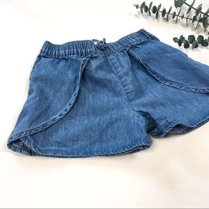 5-6T Chambray Denim Shorts